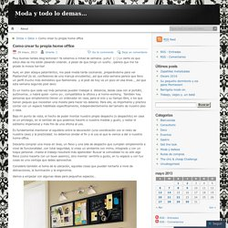 Como crear tu propia home office