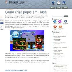 Como criar jogos em Flash
