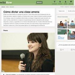 Cómo dictar una clase amena: 14 pasos - wikiHow