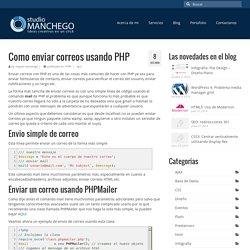 Como enviar correos usando PHP