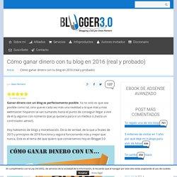 Cómo ganar dinero con un blog en 2016 - GUÍA COMPLETA