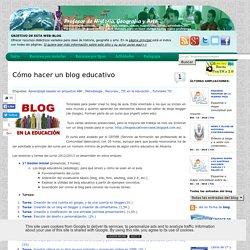 Cómo hacer un blog educativo