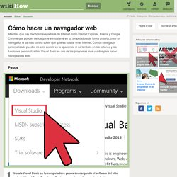 Cómo hacer un navegador web: 17 pasos
