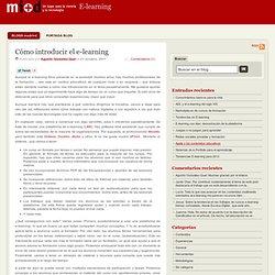 Cómo introducir el e-learning