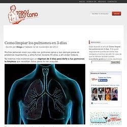 Como limpiar los pulmones en 3 días