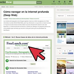 Cómo navegar en la internet profunda (Deep Web)