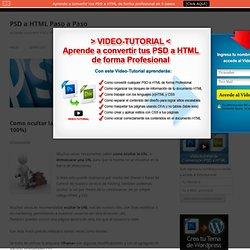 Como ocultar la URL (enmascarar URL con iframe al 100%) - PSD a HTML