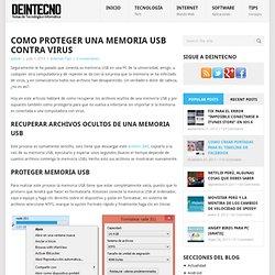 Como proteger una memoria USB contra virus
