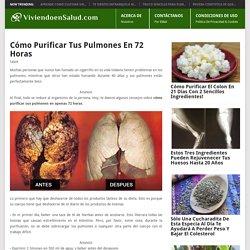 Cómo Purificar Tus Pulmones En 72 Horas