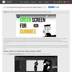 Cómo quitar un fondo de video usando VSDC
