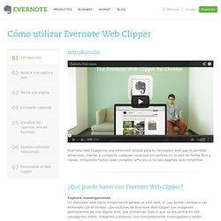 Cómo utilizar Evernote Web Clipper