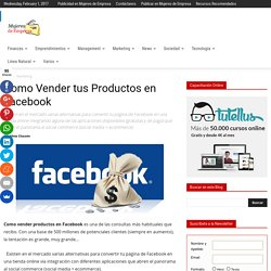 Como Vender tus Productos en Facebook
