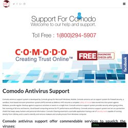 Special Support For Comodo Antivirus Toll Free:-1-800-294-5907