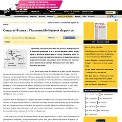 Comores-France: l'insoutenable légèreté du pouvoir