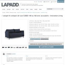 canapé-lit compact de luxe CUBED 140 ou 160 avec accoudoirs - Innovation Living - LAPADD.com