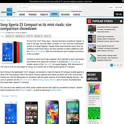 Sony Xperia Z3 Compact vs its mini rivals: size comparison showdown