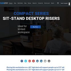 Compact Series Sit-Stand Desktop Risers