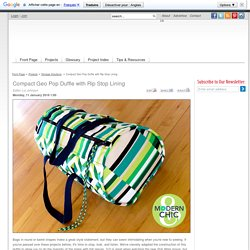 Compact Geo Pop Duffle with Rip Stop Lining