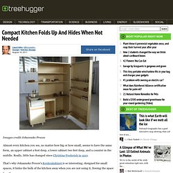 Compact Kitchen Folds Up And Hides When Not Needed
