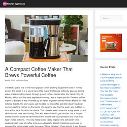 A Compact Coffee Maker That Brews Powerful Coffee - Pro Kitchen Appliances