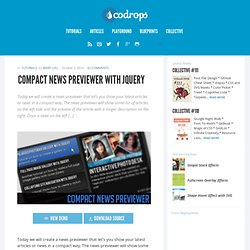 Compact News Previewer with jQuery