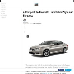 4 Compact Sedans with Unmatched Style and Elegance
