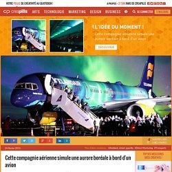 Cette compagnie aérienne simule une aurore boréale à bord d'un avion