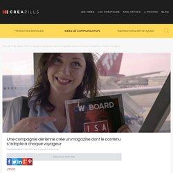 Une compagnie aérienne crée un magazine dont le contenu s'adapte à chaque voyageur