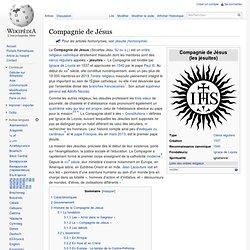 Compagnie de Jésus