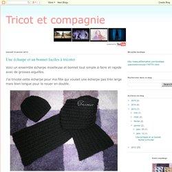 Une écharpe et un bonnet faciles à tricoter