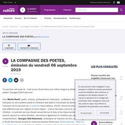 LA COMPAGNIE DES POETES, émission du vendredi 06 septembre 2019