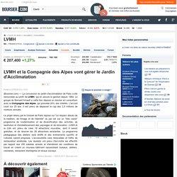 LVMH et la Compagnie des Alpes vont gérer le Jardin d'Acclimatation