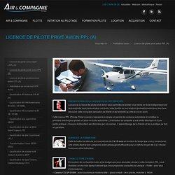 Air et Compagnie : Licence de pilote privé avion PPL (A)