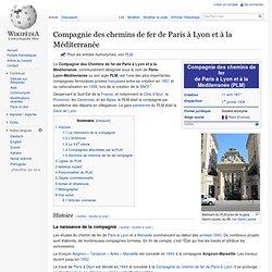 Compagnie des chemins de fer de Paris à Lyon et à la Méditerranée