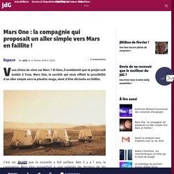 Mars One : la compagnie qui proposait un aller simple vers Mars en faillite !