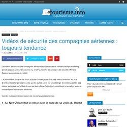 Vidéos de sécurité des compagnies aériennes : toujours tendance