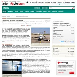 Compagnies aériennes : les recours