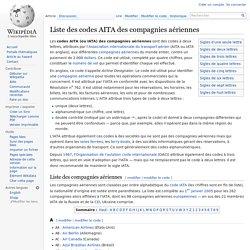 Liste des codes AITA des compagnies aériennes