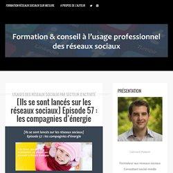 Episode 57 : les compagnies d'énergie - Formation aux réseaux sociaux par Clément Pellerin