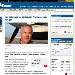 Les compagnies aériennes françaises en danger
