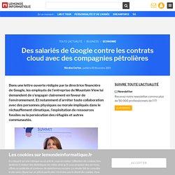 Des salariés de Google contre les contrats cloud avec des compagnies pétrolières