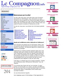 Le compagnon.info - formation en ligne
