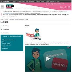 Jules, l'avatar pour les collégiens - CNED