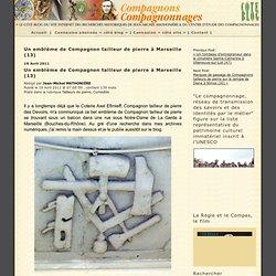 Un emblème de Compagnon tailleur de pierre à Marseille (13)