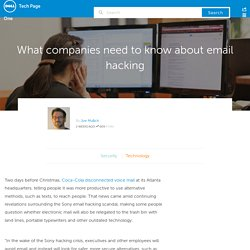 What companies need to know about email hacking