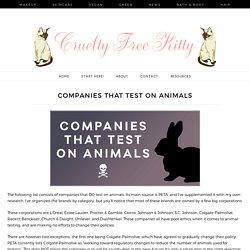 Companies That Test On Animals (Some Might Shock You!)