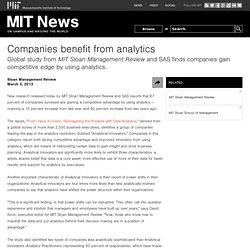 Companies benefit from analytics