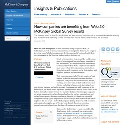 How companies are benefiting from Web 2.0 - McKinsey Quarterly - Business Technology - Strategy