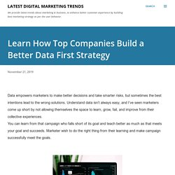 Learn How Top Companies Build a Better Data First Strategy