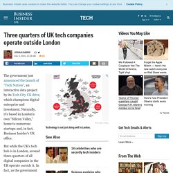 UK tech companies not in London - Business Insider